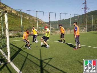 Соревнования по футболу прошли в Кайтагском районе